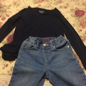 Children's place top and jeans